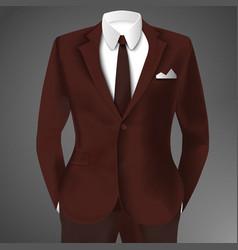 Elegant man suit vector