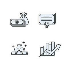 Financial management icons business assets save vector