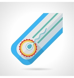 Flat colored icon for fertilization vector image