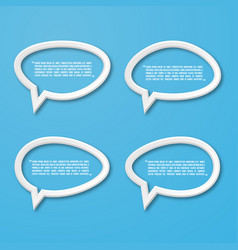 flat frame speech bubble icon for text quote vector image