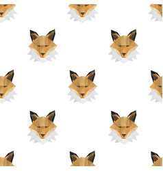 fox head triangle seamless pattern backgrounds vector image