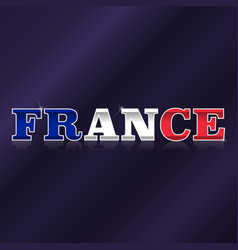 france flag symbol vector image