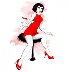 girl in casino vector image