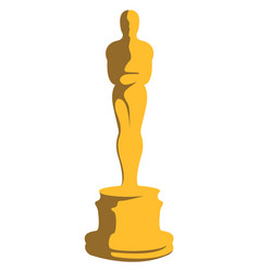 Gold oscar on white background vector