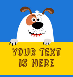 Greeting card with funny cartoon dog vector