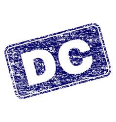 grunge dc framed rounded rectangle stamp vector image