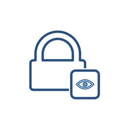hacker lock padlock password private protection vector image