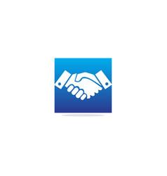 Hand shake partner logo vector