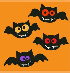 happy halloween bats vector image