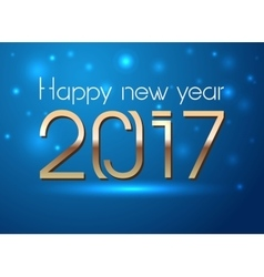 Happy New Year 2017 hand-lettering text on snowy vector