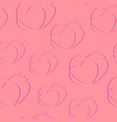 hearts with the words love you seamless texture vector image