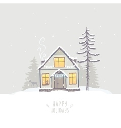 House winter vector