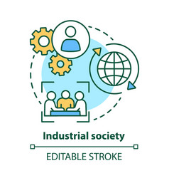 Industrial society concept icon mass production vector