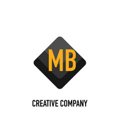 Initial letter mb black creative design logo in vector