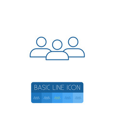 isolated group outline staff element can vector image