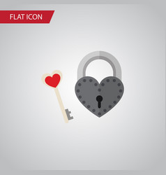 isolated lock flat icon key element can be vector image