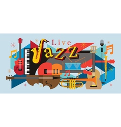 Jazz Music Instruments Background vector image