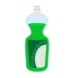 Kitchenware bottle soap cartoon icon vector image