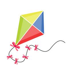 Kite flying icon flat cartoon style isolated on vector