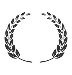 laurel wreath icon triumph and success emblem vector image