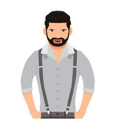man cartoon icon face vector image