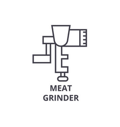 meat grinder line icon outline sign linear vector image