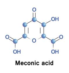 Meconic acid or acidum meconicum vector