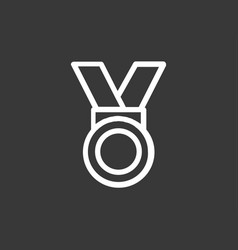 medal icon sign symbol vector image