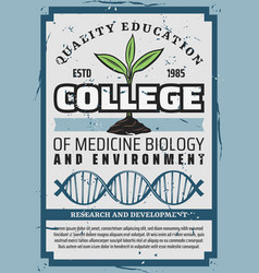 medicine biology education environment college vector image