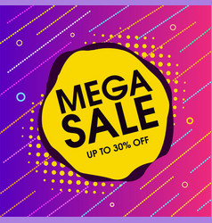mega sale offer background vector image