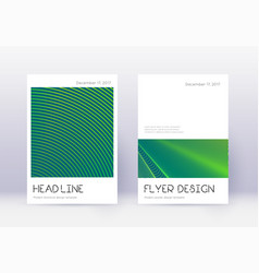 minimal cover design template set green abstract vector image