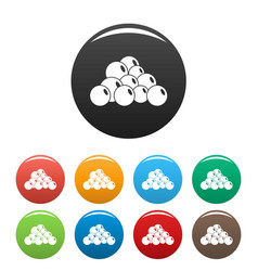 Mustard seed icons set color vector