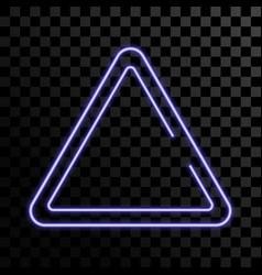 neon sign triangle background glowing electric vector image