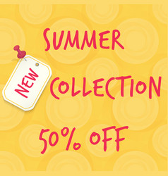 New summer collection sale vector