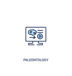 Paleontology concept 2 colored icon simple line vector