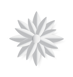 Paper cut stlye grey lotus vector
