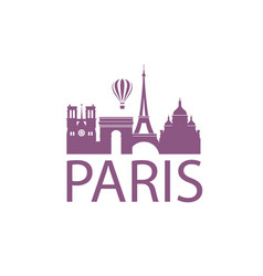 paris landmark image vector image