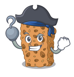 Pirate granola bar character cartoon vector