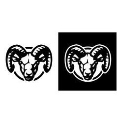 Ram head logo on a light and dark background vector