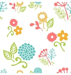 Seamless floral pattern of bouquets vector image