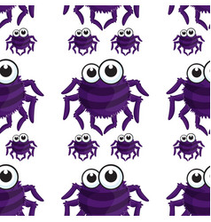 Seamless pattern tile cartoon with spider vector