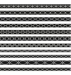 Set borders art dividers in geometrical style vector
