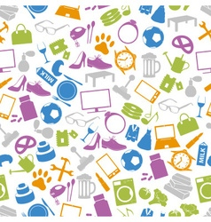 Shop department simple icons seamless pattern vector