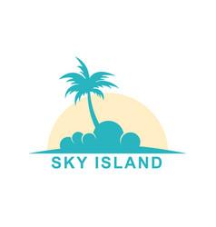 Sky island vector