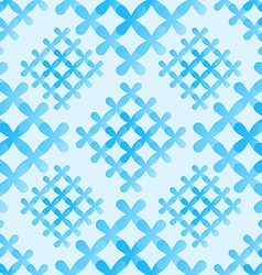 Soft blue crosses seamless pattern - abstract vector