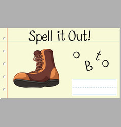 Spell it out boot vector