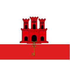 The gibraltar national flag vector