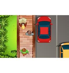 Topview street vector