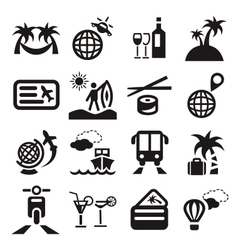 travel ions vector image