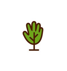 tree hand logo vector image